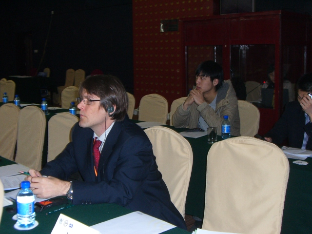 PETA's Jason Baker at an Animal Law Conference in Beijing.