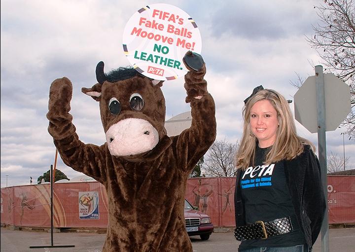PETA's Cow Thanks FIFA for Having Balls