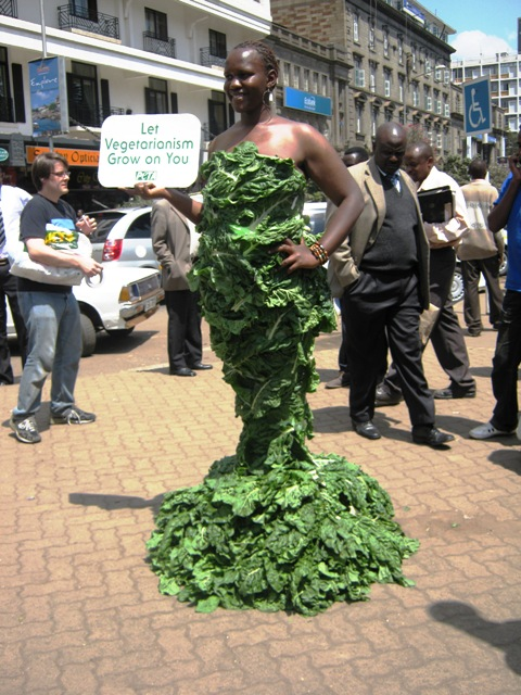 PETA's Lettuce Lady in Kenya