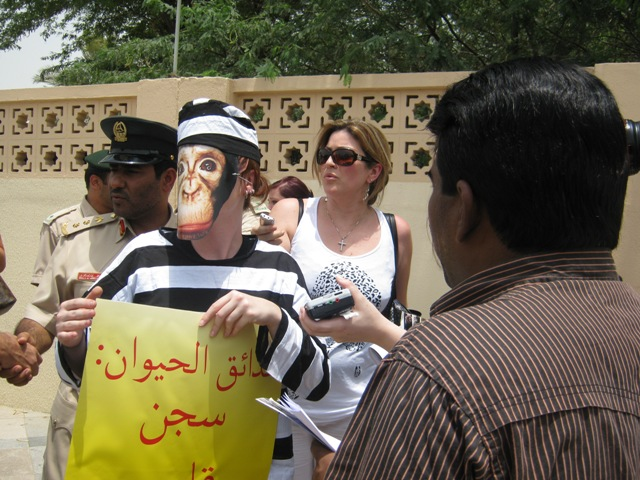 Dubai Zoo: PETA Members Protest Against Life Sentences for Animals