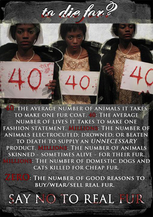 South Africa Fur Free Poster Contest
