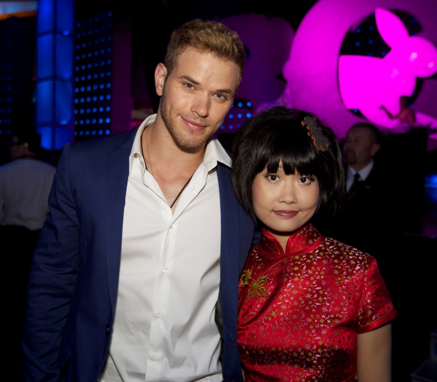 Singer and songwriter Long Kuan with Twilight's Kellan Lutz
