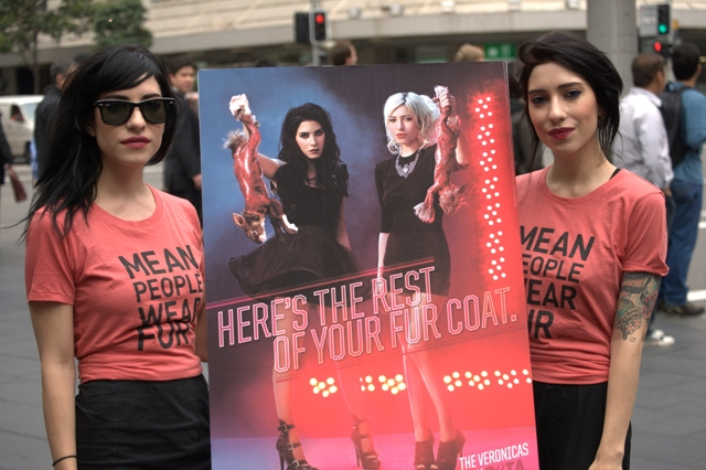 The Veronicas PETA Ad Launch in Sydney