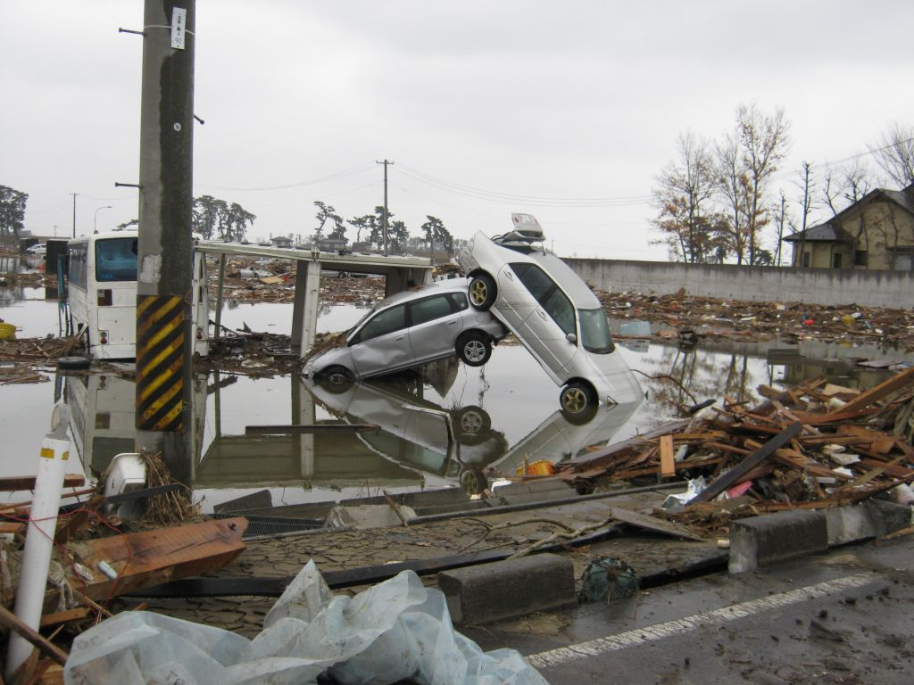 Tsunami damage in Japan