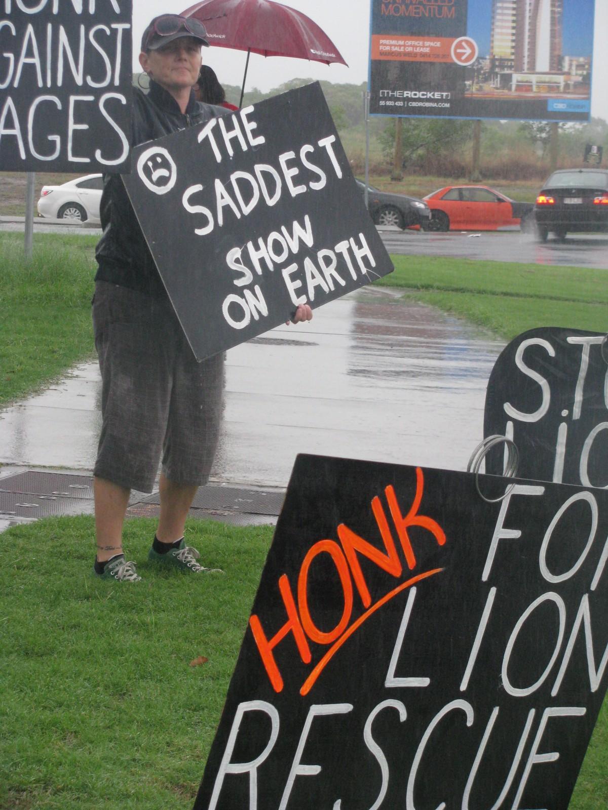 Australia circus protest