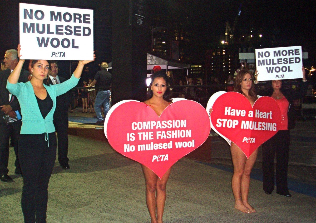 PETA Australia Asks Fashion Week Attendees to 'Have a Heart'