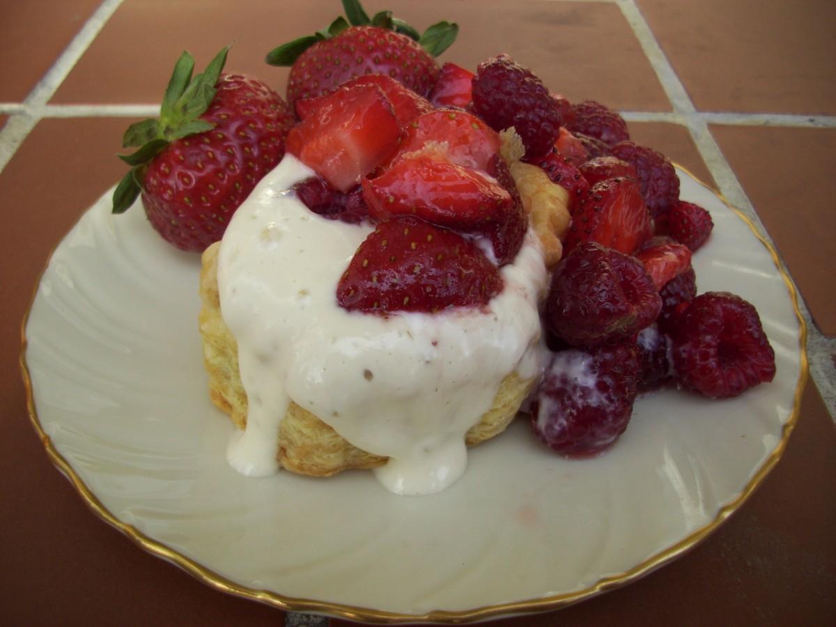 Puff Pastry with Tofu Cream