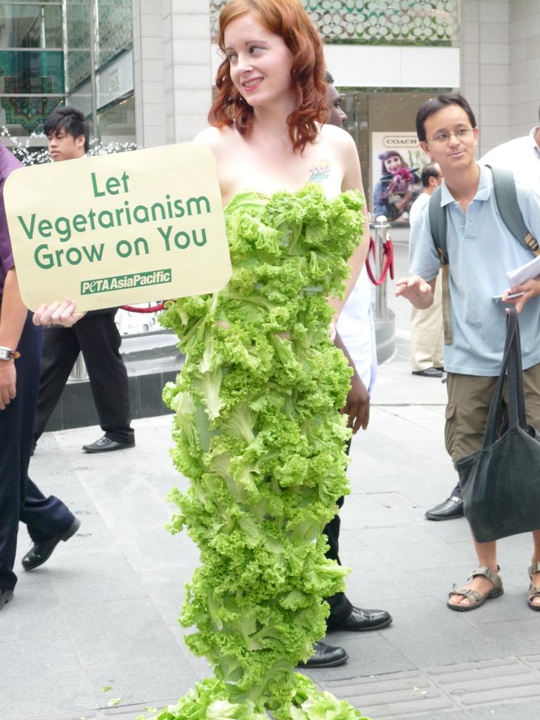 Malaysia lettuce lady