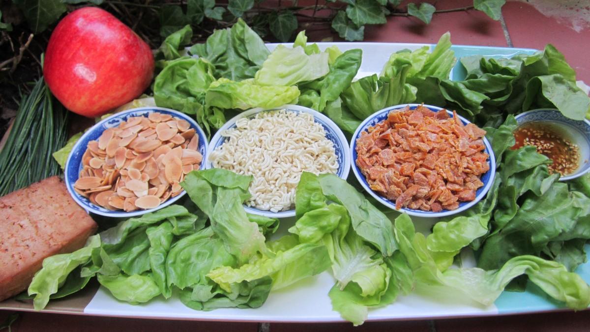 Raman Salad Preparation