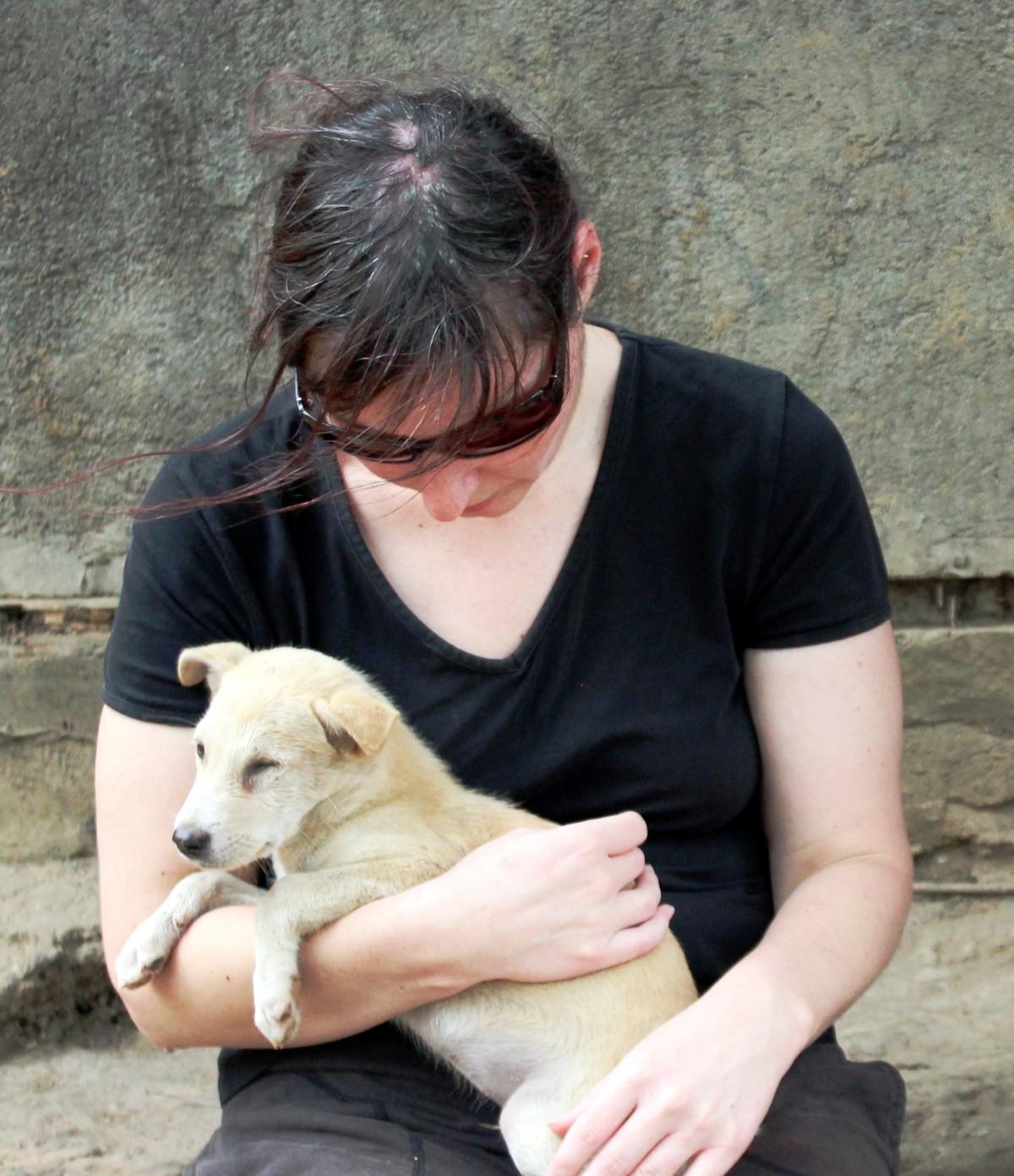 Sam with Dog