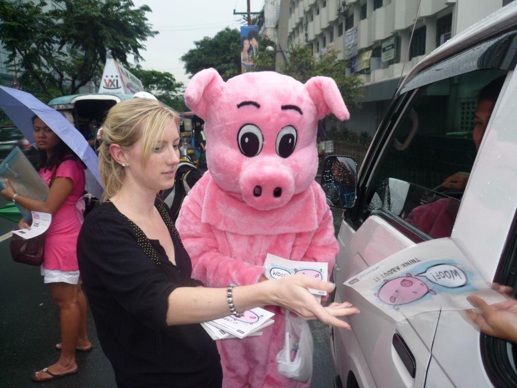 Pig leafletting