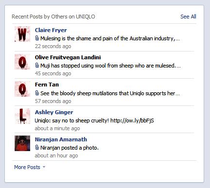 Uniqlo FB takeover