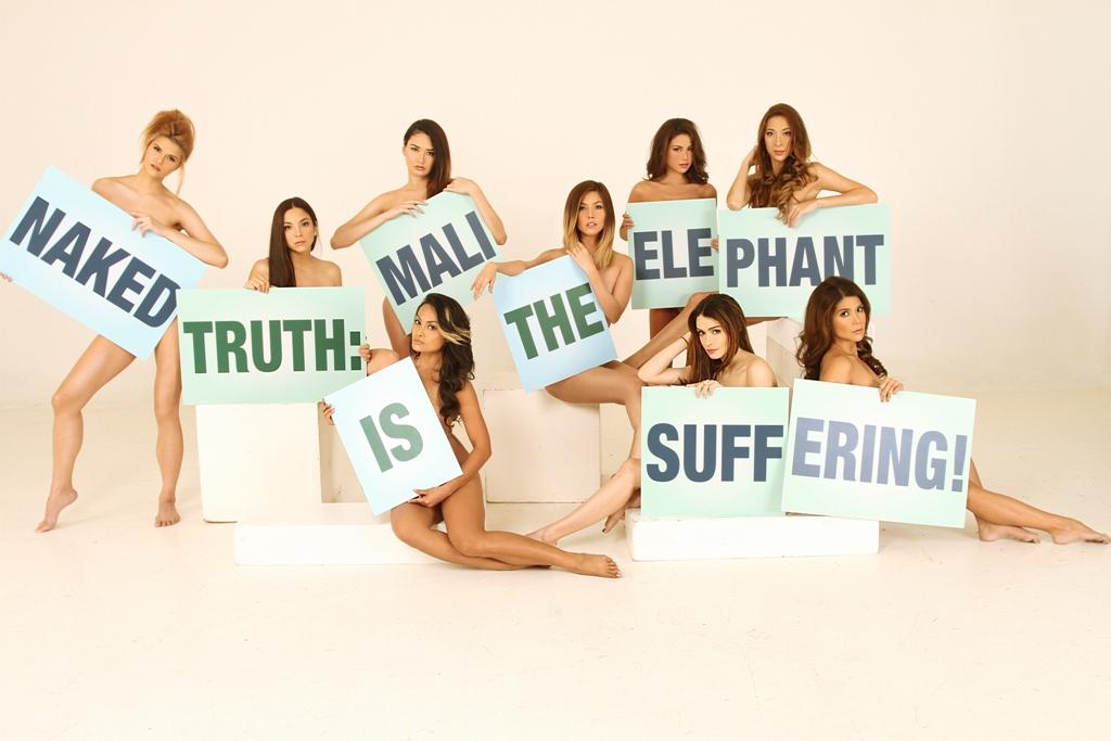 Models pose for Mali campaign