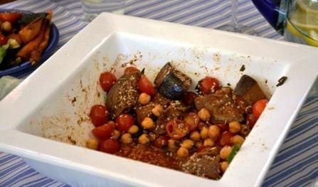 Recipe: Moroccan Eggplant and Chickpea Salad Recipe