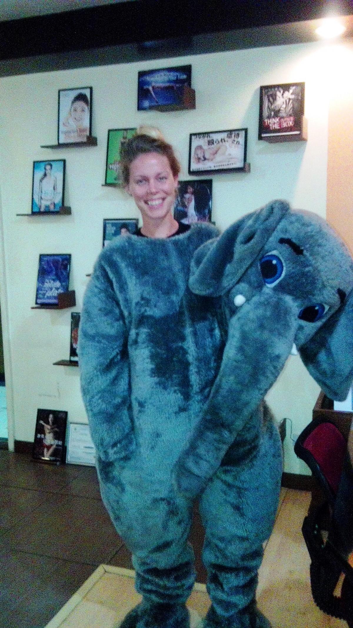 Milena as Mali the elephant
