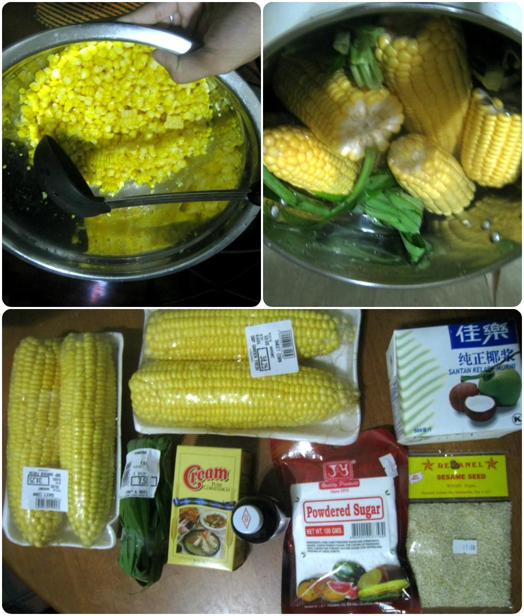 Sweet corn soup preparation