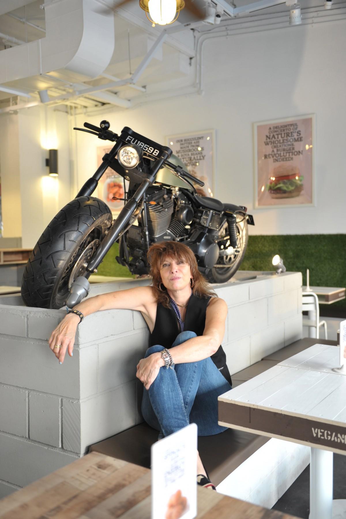 Chrissie Hynde at VeganBurg