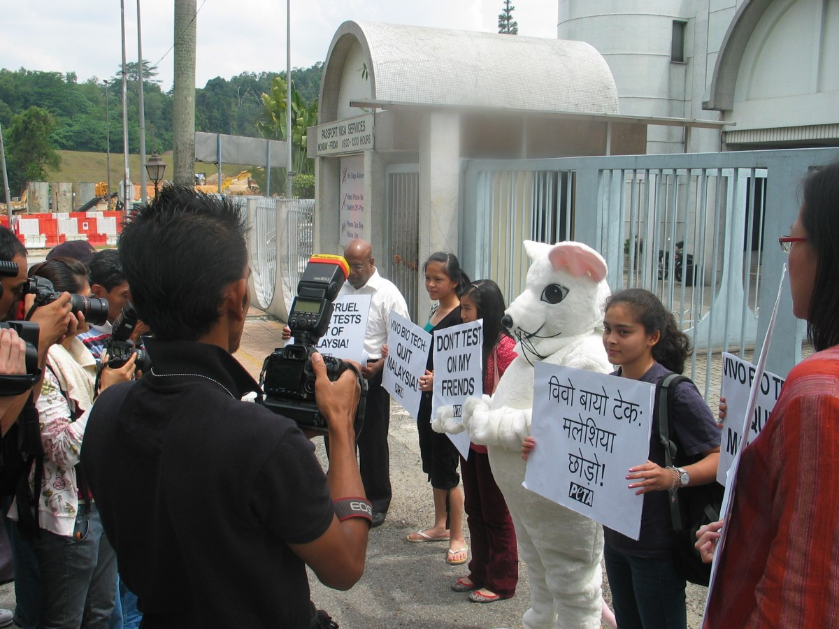 Protest Against Indian Lab