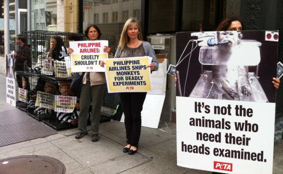 Philippine Airlines PETA protest