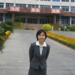 A PETA Asia-Pacific staff member appears outside a government building in Jining, China, after a meeting with officials about rabies-related dog slaughters.