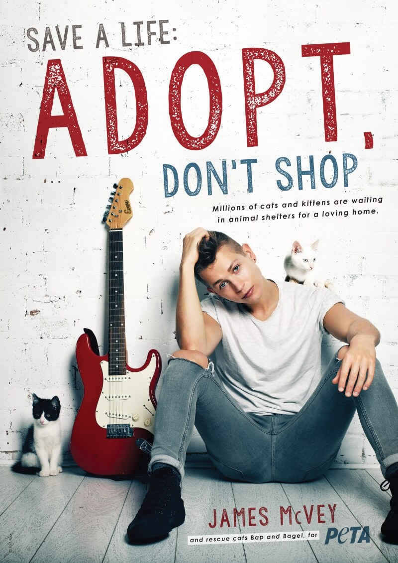 James McVey for PETA - Adopt, Don't Shop