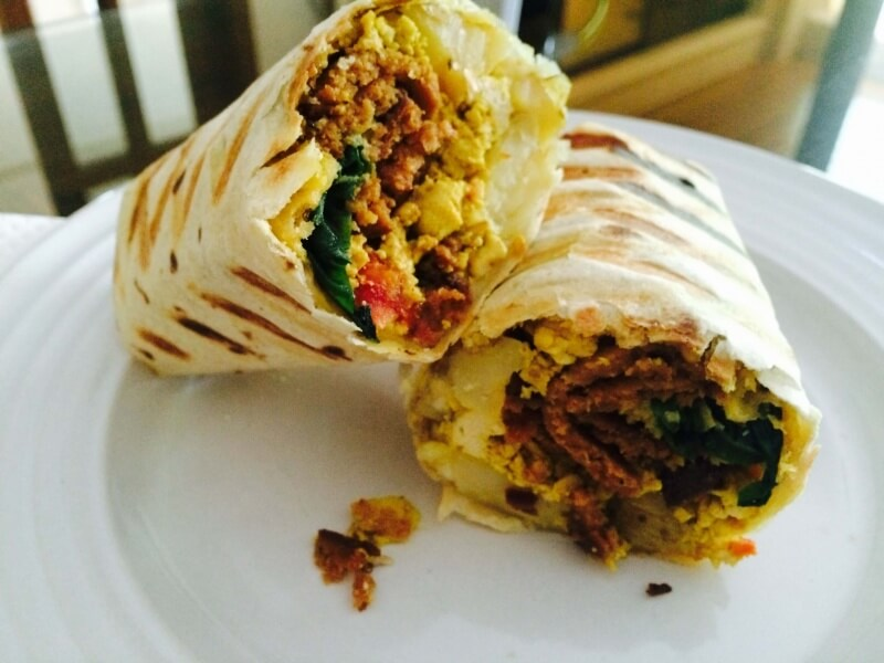 Green Bar's Breakfast Burrito