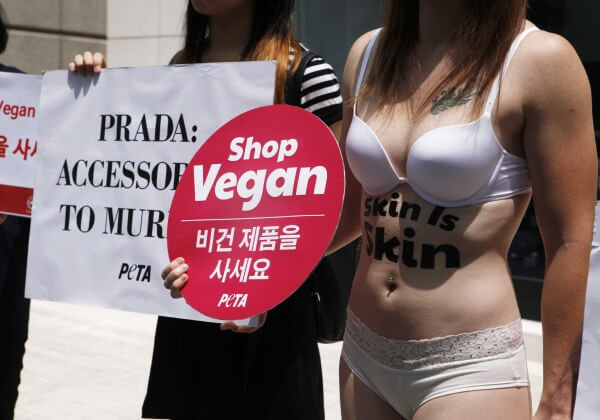 PHOTOS: Nearly Naked Protester's Message: Skin Is Skin