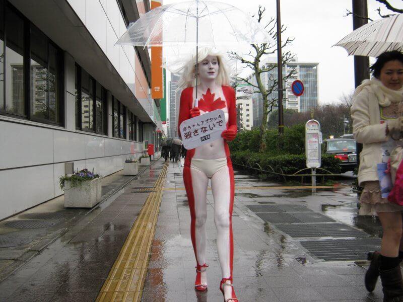 PETA Asia protests fur farm cruelty in Japan