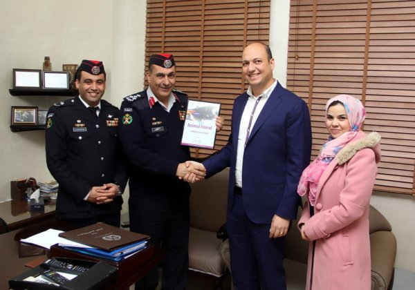 The Jordan Civil Defense Directorate Receives an Award From PETA for Rescuing Animals