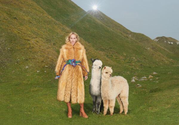 Stella McCartney Gifts Beautiful Faux-Fur Coat to Sophia Loren