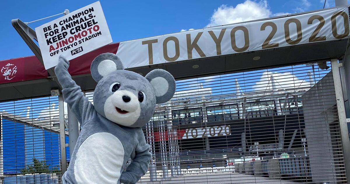 Photos: PETA 'Rat' Protests Tokyo Olympics Sponsor Ajinomoto Over Horrific Tests on Animals